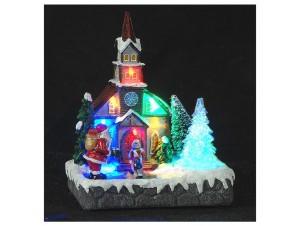 Χριστουγεννιάτικο φωτιζόμενο Σπιτάκι 17x12x20 εκ.