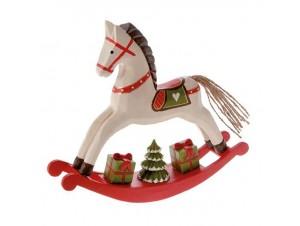 Χριστουγεννιάτικο Διακοσμητικό Κουνιστό Αλογάκι
