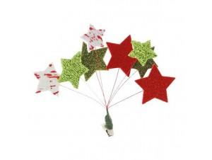 Χριστουγεννιάτικο Διακοσμητικό Μπουκέτο αστεριών 16 εκ