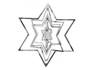 Χριστουγεννιάτικο Διακοσμητικό Ασημί Αστέρι 3D 11 εκ
