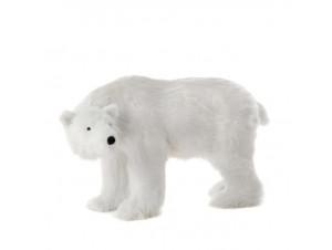 Χριστουγεννιάτικη Διακοσμητική Λευκή Αρκούδα Βιτρίνας 92 εκ