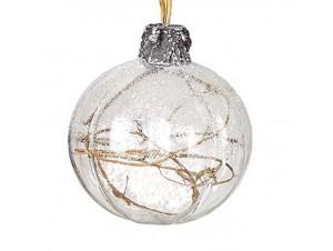 Χριστουγεννιάτικη γυάλινη μπάλα με σχέδια
