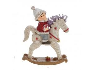 Χριστουγεννιάτικο Διακοσμητικό Αλογάκι 15 εκ