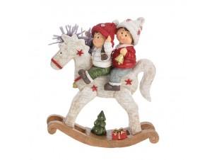 Χριστουγεννιάτικο Διακοσμητικό Αλογάκι 22 εκ
