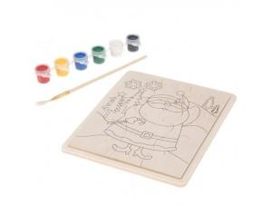 Χριστουγεννιάτικη Παιδική Παζλ-Παλέτα Ζωγραφικής