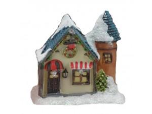 Χριστουγεννιάτικο σπιτάκι φωτιζόμενο 10 x 8 x 5,5 εκ.