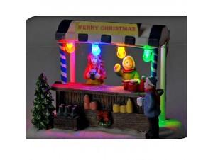 Χριστουγεννιάτικο σπιτάκι φωτιζόμενο 15 x 10 x 13 εκ.