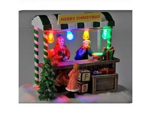Χριστουγεννιάτικο σπιτάκι φωτιζόμενο 15x10x13 εκ.