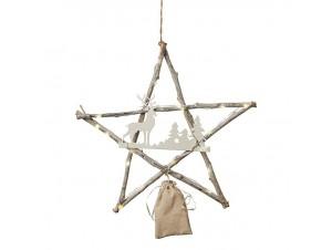 Χριστουγεννιάτικο Διακοσμητικό Αστέρι με Led 38 εκ