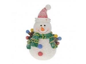 Χριστουγεννιάτικο στολίδι Χιονάνθρωπος 13 εκ
