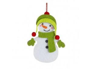 Σετ 3 τεμ.Χριστουγεννιάτικο παιδικό τσόχινο στολίδι