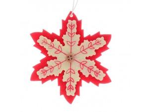 Σετ 2 τεμ. Χριστουγεννιάτικο Στολίδι Υφασμάτινο