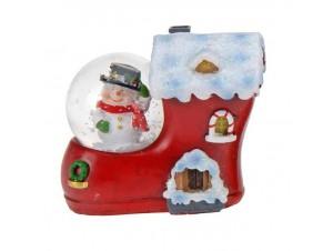 Χριστουγεννιάτικη χιονόμπαλα Μπότα-Σπιτάκι 4,5 εκ.
