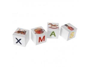 Χριστουγεννιάτικα Διακοσμητικά Ζάρια XMAS