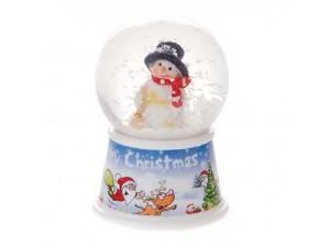 Χριστουγεννιάτικη Χιονόμπαλα με φως 7 εκ