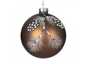 Χριστουγεννιάτικη γυάλινη μπάλα με σχέδια 10 εκ
