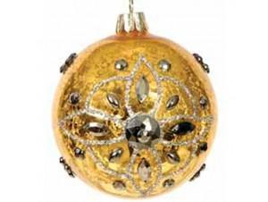 Χρυσή Χριστουγεννιάτικη Γυάλινη Μπάλα 10 ΕΚ