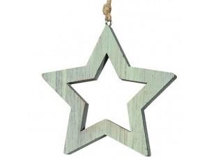 Χριστουγεννιάτικο ξύλινο διακοσμητικό αστέρι