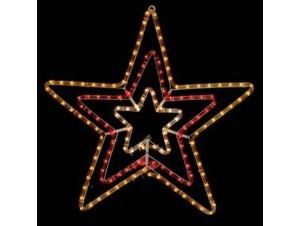 Φωτοσωλήνας σε σχέδιο τριπλό αστέρι 70 εκ