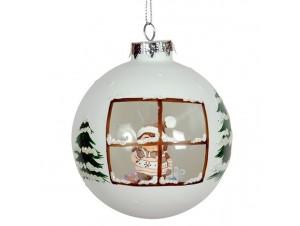 Χριστουγεννιάτικη Μπάλα Γυάλινη 9 εκ