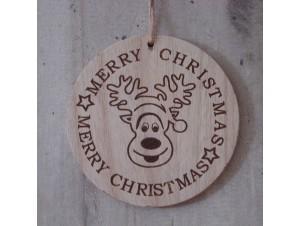 Χριστουγεννιάτικο Ξύλινο Στολίδι 11 εκ