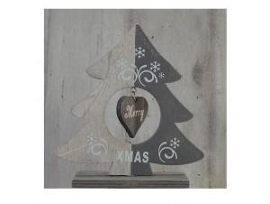 Χριστουγεννιάτικο Διακοσμητικό Δέντρο 17 εκ. διπλής όψης