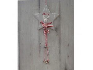 Χριστουγεννιάτικο Ξύλινο Στολίδι Αστέρι 50 εκ