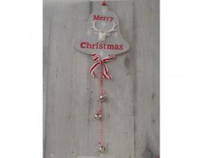 Χριστουγεννιάτικο Ξύλινο Στολίδι Καμπάνα 50 εκ