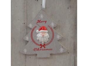 Χριστουγεννιάτικο Ξύλινο Στολίδι Δέντρο 23 εκ