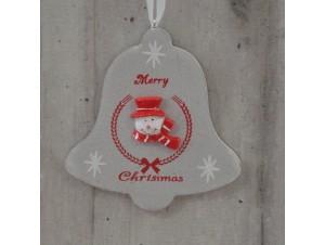 Χριστουγεννιάτικο Ξύλινο Στολίδι Καμπάνα 23 εκ