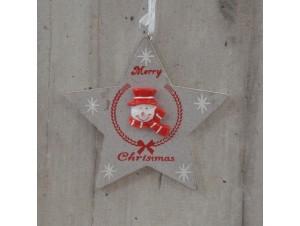 Χριστουγεννιάτικο Ξύλινο Στολίδι Αστέρι 23 εκ