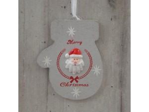 Χριστουγεννιάτικο Ξύλινο Στολίδι Γαντάκι 23 εκ