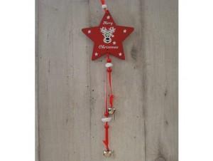 Χριστουγεννιάτικο Ξύλινο Στολίδι Αστέρι 41 εκ