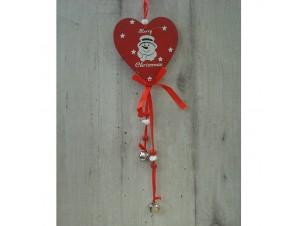 Χριστουγεννιάτικο Ξύλινο Στολίδι Καρδιά 41 εκ