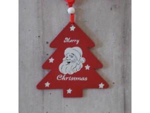 Χριστουγεννιάτικο Ξύλινο Στολίδι Δέντρο 21 εκ