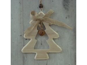 Χριστουγεννιάτικο Ξύλινο Οικολογικό Στολίδι 24 εκ