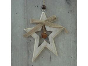Χριστουγεννιάτικο Ξύλινο Οικολογικό Στολίδι Αστεράκι