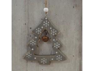 Χριστουγεννιάτικο Ξύλινο Οικολογικό Στολίδι Δέντρο 12 εκ
