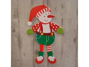 Χριστουγεννιάτικο Χάρτινο Διακοσμητικό Χιονάνθρωπος 50 εκ. διπλής όψης