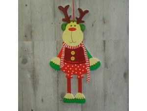 Χριστουγεννιάτικο Χάρτινο Διακοσμητικό Τάρανδος 50 εκ. διπλής όψης