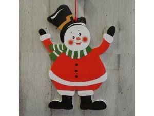 Χριστουγεννιάτικο Χάρτινο Διακοσμητικό Χιονάνθρωπος 38 εκ. διπλής όψης