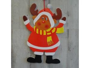 Χριστουγεννιάτικο Χάρτινο Διακοσμητικό Τάρανδος 38 εκ