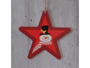 Χριστουγεννιάτικο Χάρτινο Διακοσμητικό 12 εκ. διπλής όψης