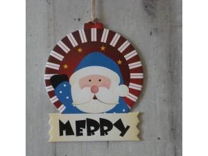Χριστουγεννιάτικο Χάρτινο Διακοσμητικό Άγιος Βασίλης 12 εκ
