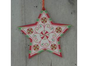 Χριστουγεννιάτικο Ξύλινο Στολίδι 12 εκ. διπλής όψης