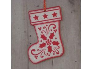 Χριστουγεννιάτικο Ξύλινο Στολίδι 12 εκ