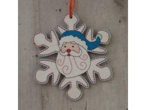 Χριστουγεννιάτικο στολίδι διπλής όψης Νιφάδα 12 εκ
