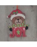 Χριστουγεννιάτικο στολίδι διπλής όψης Αρκουδάκι 12 εκ