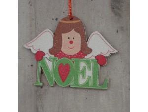 Χριστουγεννιάτικο στολίδι διπλής όψης Αγγελάκι 12 εκ