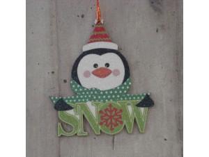 Χριστουγεννιάτικο στολίδι διπλής όψης ι Πιγκουίνος 12 εκ